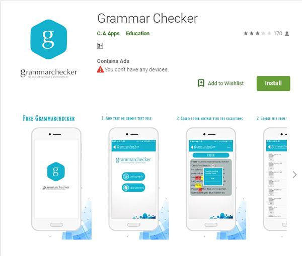 اپلیکیشن Grammar Checker