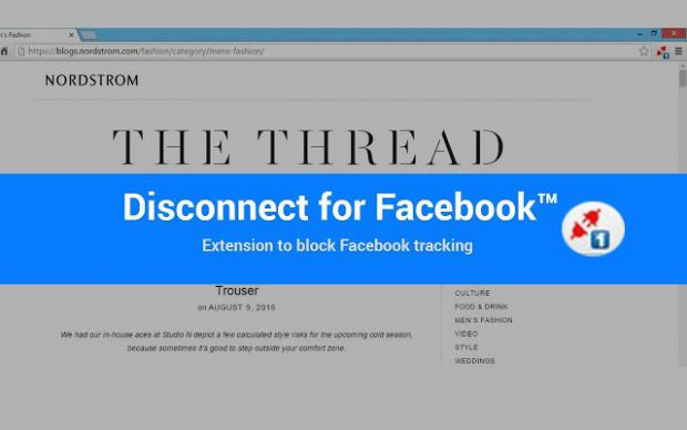 افزونه Disconnect Facebook