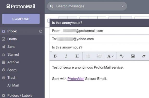 ارسال ایمیل ناشناس به کمک ProtonMail