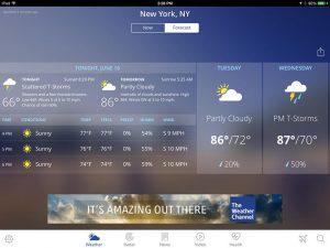 اپلیکیشن The Weather Channel