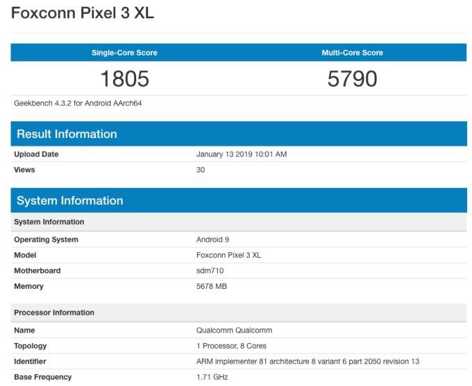گوگل پیکسل 3 لایت XL