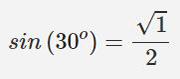 محاسبه سینوس 3۰ درجه