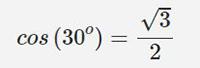 محاسبه کسینوس 3۰ درجه