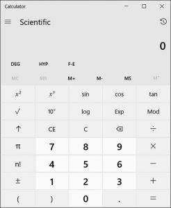 ماشین حساب مهندسی ویندوز