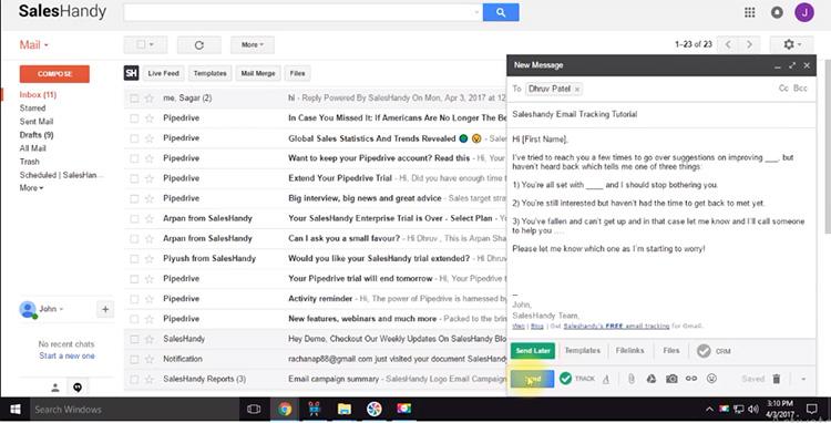 خوانده شدن ایمیل توسط مخاطب