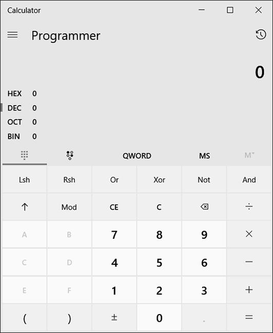 ماشین حساب برنامه نویسی