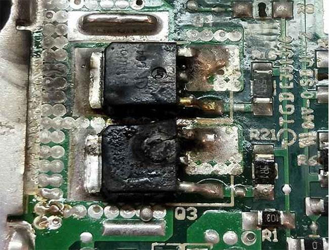 سیب به IC و MOSFET طی اسمبل کردن پاور