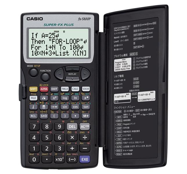 دانلود دفترچه راهنمای کاسیو 5800