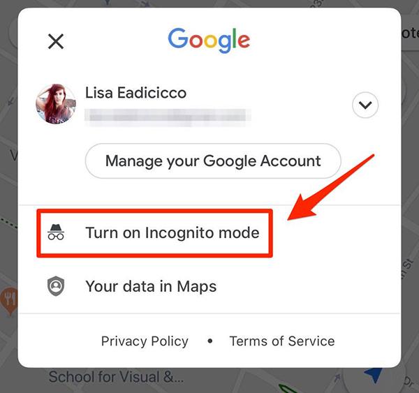 استفاده از حالت ناشناس در گوگل مپ