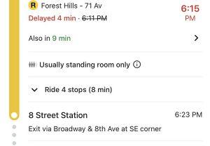 بررسی جمعیت سوار بر قطار در گوگل مپ