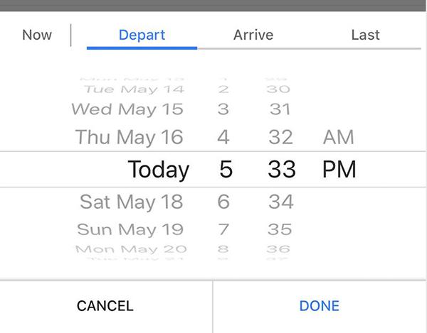 تغییر دادن تاریخ و زمان در گوگل مپ