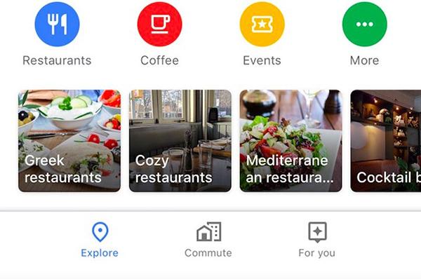 بخش Commute در گوگل مپ