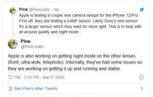 آیفون 12 پرو با دوربین 64 مگاپیکسلی