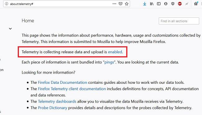 چگونه جلوی جمع آوری اطلاعات Firefox