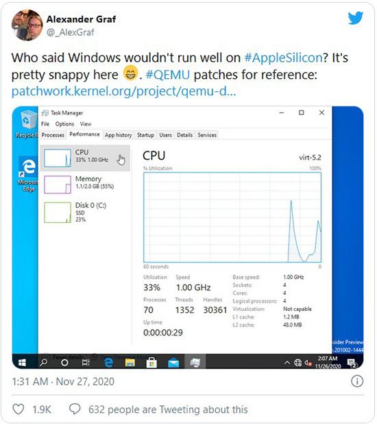 اجرای ویندوز 10 بر روی تراشه M1